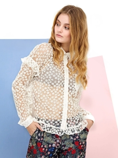 シスタージェーン(sister jane)のNeedlethread Lace Shirt シャツ
