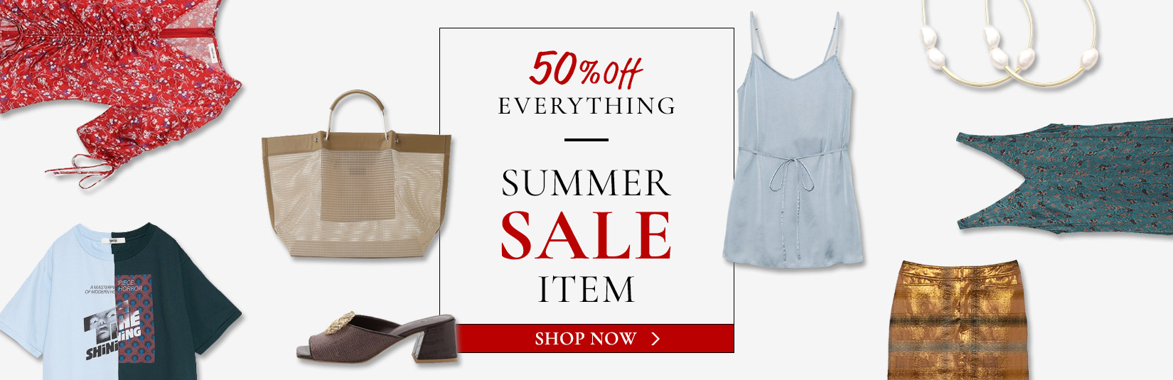 All 50%OFFで買えるSUMMER SALE ITEM