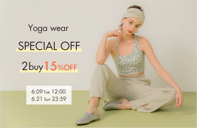 "Yoga wear SPECIAL OFF ""2buy15%OFF"""
