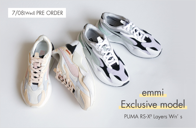 """emmi exclusive model"" PUMA RS-X3 Layers Wn's"