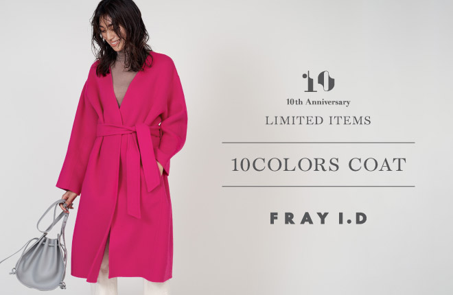 10 th Anniversary LIMITED ITEMS -10COLORS COAT-