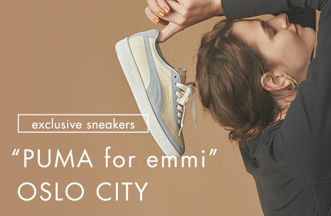 "PUMA for emmi""OSLO CITY"" New Model Sneakers"