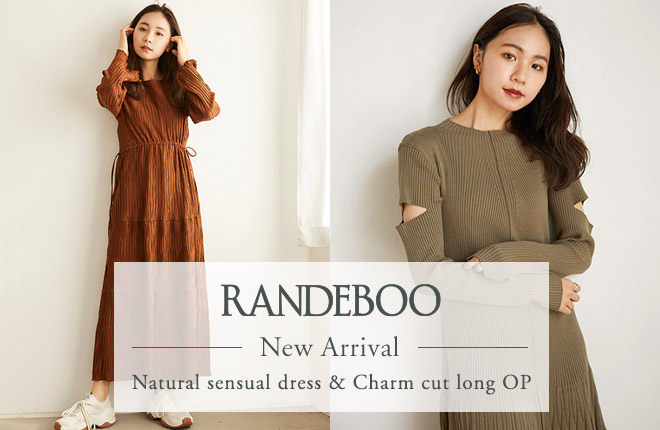 RANDEBOO New Arrival Natural sensual dress&Charm cut long OP