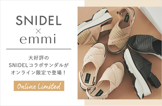 SNIDEL×emmi Sneakers Sole Sandals