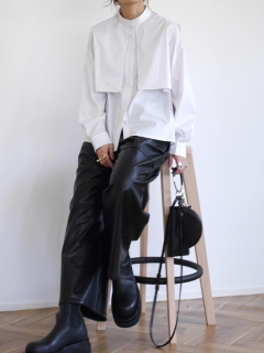 ANIECA/Fake Leather Wide Pants/その他パンツ