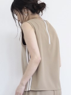 ANIECA/Piping No Sleeve Tops/その他トップス