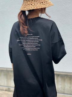 ANIECA/Back Print T-Shirt/カットソー/Tシャツ