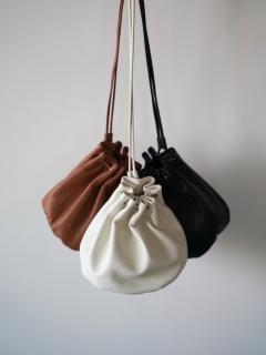 ANIECA/Leather Drawstring Bag/その他バッグ