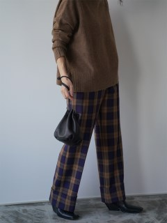 ANIECA/Check Wide Pants/その他パンツ