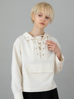 ANIECA/Lace-up Hoodie/その他トップス