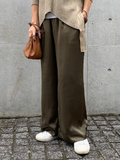 ANIECA/Satin Wide Pants/フルレングス