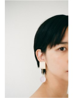 baebae/Wood Bar Pierce/ピアス