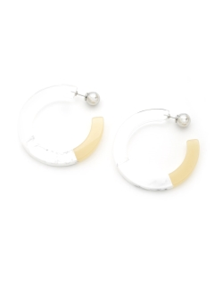Bijou R.I/color block hoop pierces/ピアス