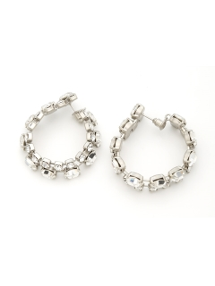 Bijou R.I/crystal loop pierces/ピアス