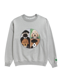 Beyond Closet/【UNISEX】ILP UK BAND DOG PATCH SWEAT-SHIRTS/スウェット