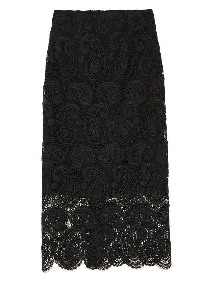CELFORD (セルフォード)  ペイズリーレースタイトスカート