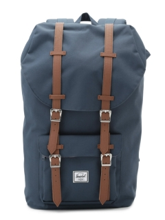 アザーブランド(OTHER BRANDS)の【Herschel Supply】HS LITTLE AME NAVY/TAN PU バッグ/ポーチ