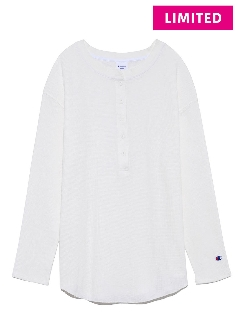 OTHER BRANDS/【Champion × emmi】HENLEY NECK L/S TEE/カットソー/Tシャツ