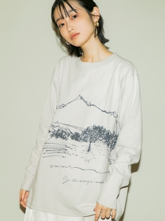 OTHER BRANDS/【emmi×Snowpeak】CF Graphic Long Sleeve Tee/カットソー/Tシャツ