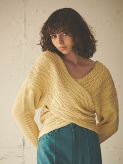 EMMA LIMBER/Cable Knit Tops/ニット