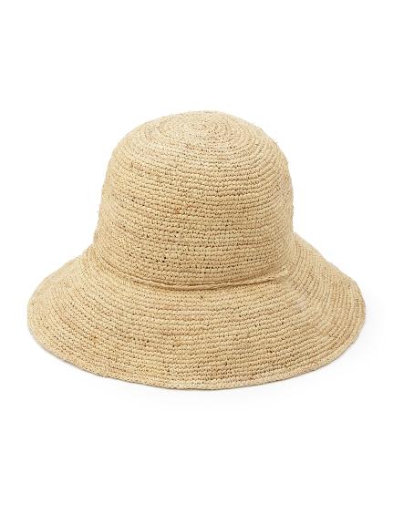 リゾート帽子 ナチュラル ラフィアハット Frayi.d
