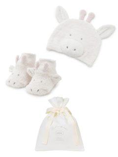 gelato pique Kids&Baby/【ギフト巾着入り】BABY 'スムーズィー'キリンキャップ&ソックスSET/ギフト