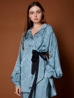 GHOSPELL/Old World Wrap Shirt Dress/ミニワンピース