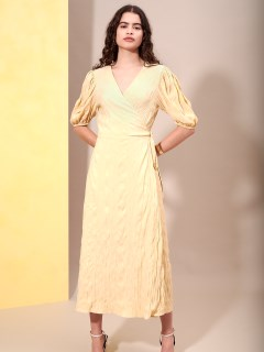 GHOSPELL/Golden Hightlights Midi Wrap Dress/その他ワンピース