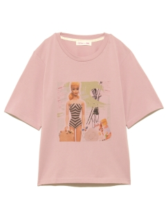 Lily Brown/BarbieビーチプリントTシャツ/カットソー/Tシャツ