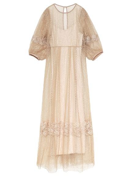刺繍チュールドレス(マキシ丈/ロングワンピース)|Lily Brown