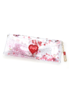 MICHU COQUETTE/Transparent&glitter glass case/ポーチ