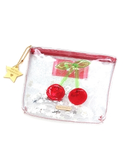 MICHU COQUETTE/Transparent Cerry Pouch/ポーチ