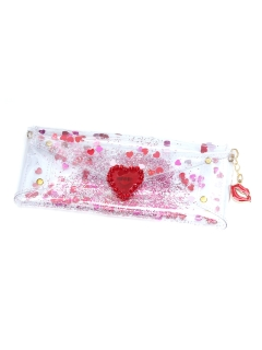 MICHU COQUETTE/Transparent&glitter glass case・LIP/ポーチ