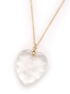 MICHU COQUETTE/Glass Heart Necklace/ネックレス