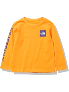 THE NORTH FACE/【KIDS】L/S Small Square Logo Tee/カットソー/Tシャツ