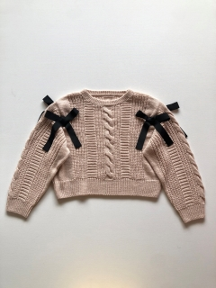 Philly chocolate/Ribbon knit/ニット