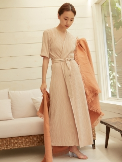 RANDEBOO/Natural wrap gown/その他アウター
