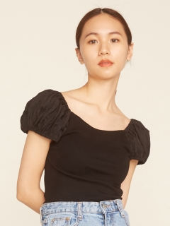 RANDEBOO/Puff simple top/カットソー/Tシャツ