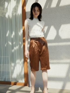 RANDEBOO/Eco leather shorts/ショートパンツ