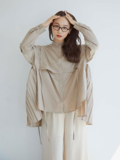 RANDEBOO/Pleats cape shirts/シャツ/ブラウス