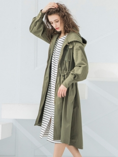 STYLE BAR/MILITARY HOOD FLARE LONG COAT/その他アウター