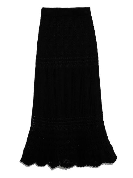 SNIDEL クロシェライクニットスカート(USAGI ONLINE公式)
