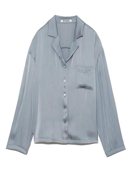 SNIDEL サテンシャツ
