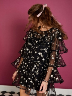 sister jane/Fortuna Embroidered Dress/ミニワンピース