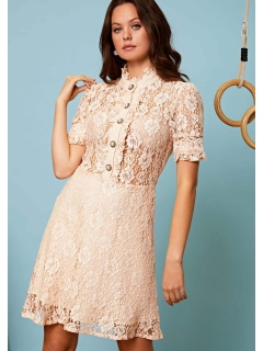 sister jane/Game Set Lace Mini Skater Dress/ミニワンピース