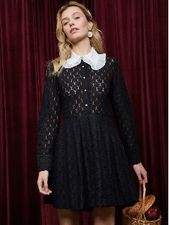 sister jane/Long Ago Babydoll Dress/ミニワンピース