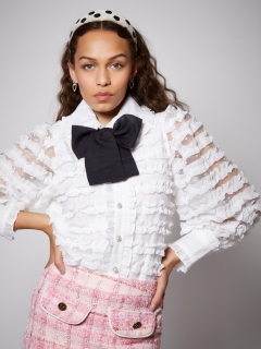 sister jane/Rumba Ruffle Bow Blouse/シャツ/ブラウス