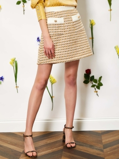 sister jane/Bird Song Tweed Mini Skirt/ミニスカート
