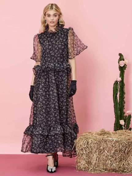 sister jane/First Rodeo Ruffle Maxi Dress/マキシ丈/ロングワンピース