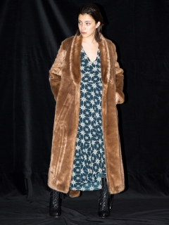 styling//Long Eco fur coat/その他アウター